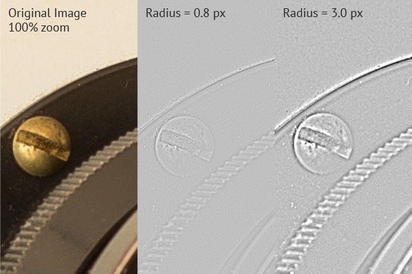 adjusting sharpness radius