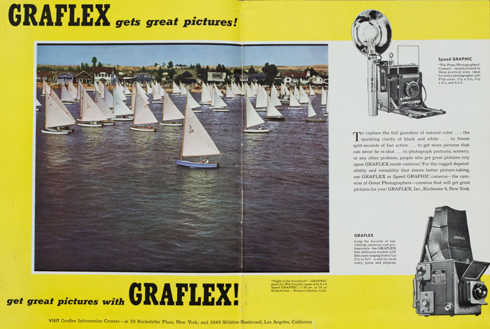 crown graphic graflex - advertising 1947