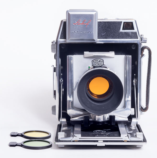 Linhof Super Technika 23 - lens shade and filters
