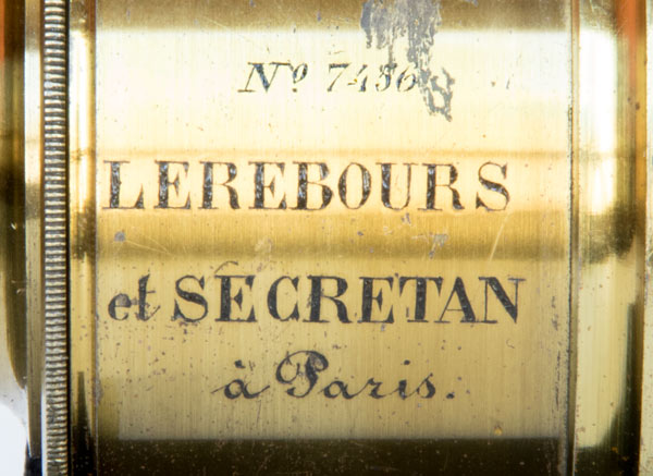 Objectif Achromatique - Lerebours et Secretan  ~1855