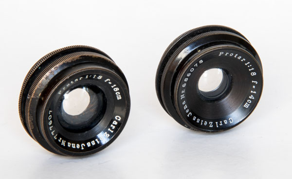 Protar V - Carl Zeiss Jena 14 and 18 cm super wide angle lenses 1926 1927