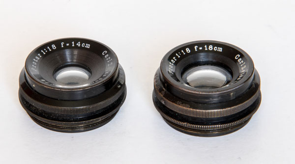Protar V - Carl Zeiss Jena 14 and 18 cm, 1:18, super wide angle lenses from 1926 1927