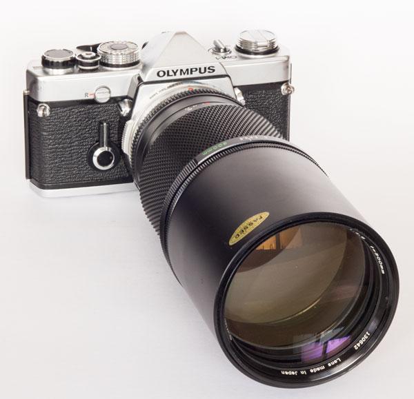 Olympus OM1n with 300 mm f/4.5