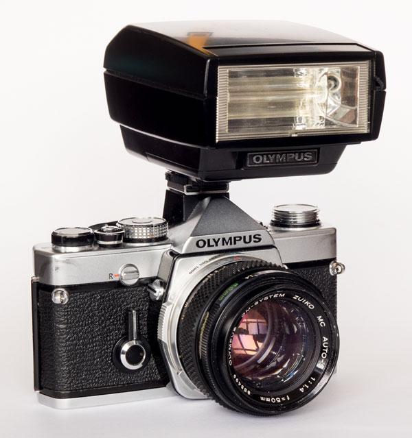 Olympus OM1n with T32 flash
