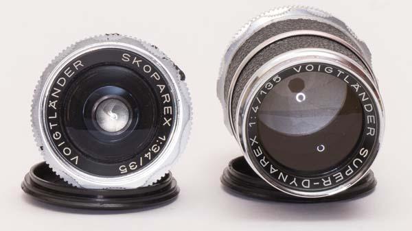 skoparex 35 mm and Super-Dynarex 135 mm - Voigtlander